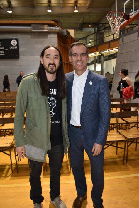 Steve Aoki and Eric Garcetti
