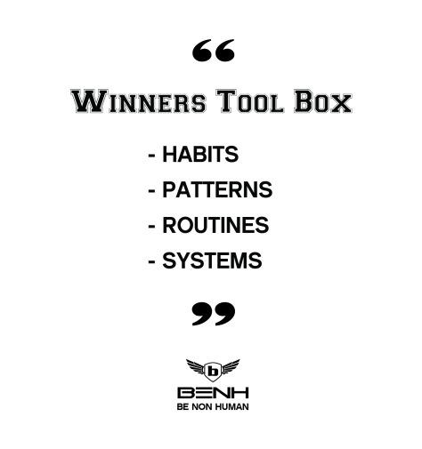 BENH Quote Winners Tool Box